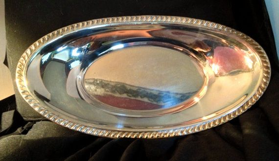 Large Heavy Silver Plated Serving Dish  Measures by ObjetDArtifact, $15.00