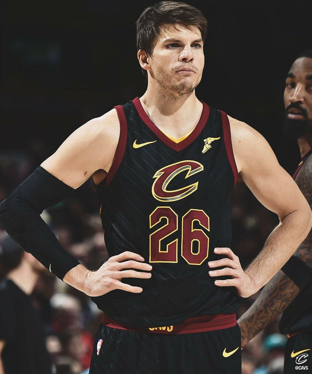 outlet store 9d1d6 40c70 Kyle Korver in the Cleveland Cavaliers statement jersey ...
