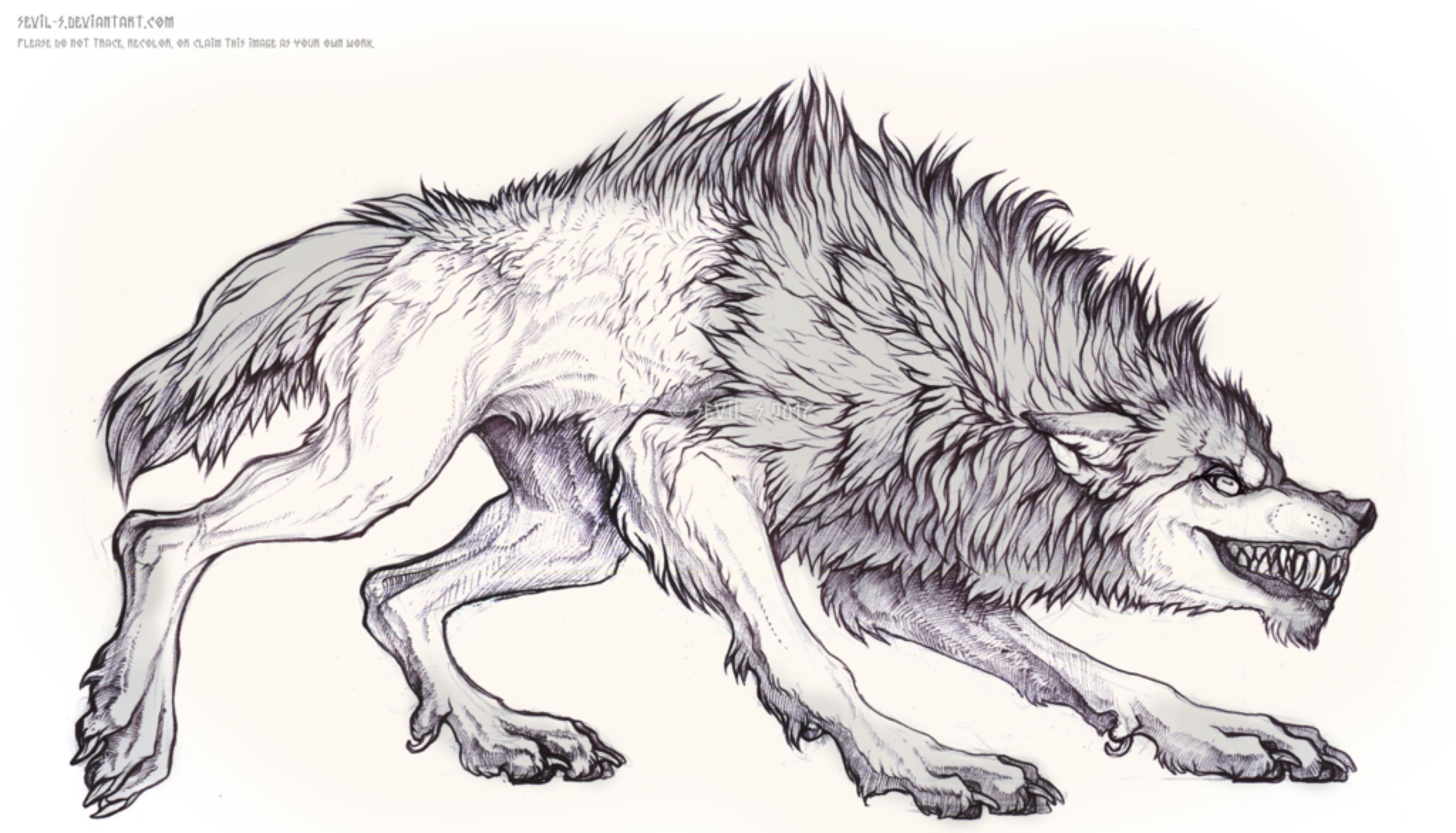 Werewolf By Sevil S On Deviantart