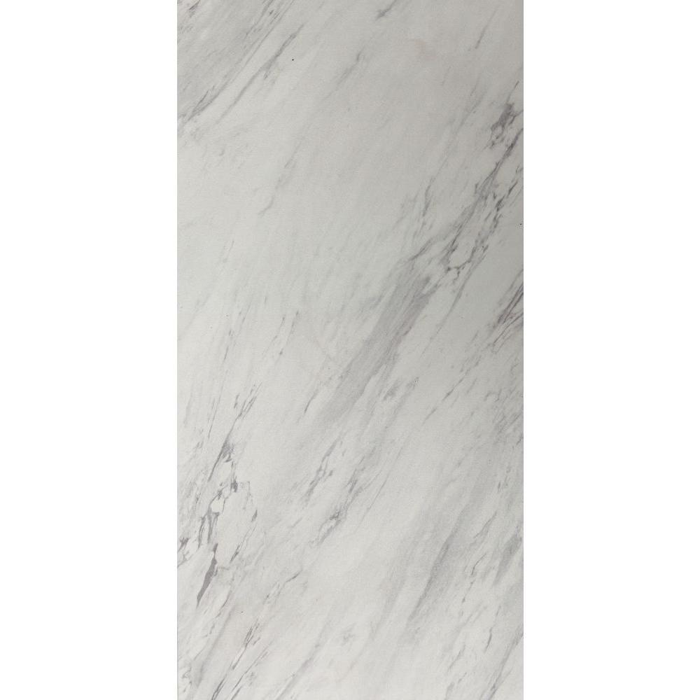 TrafficMASTER 12 In. X 24 In. Peel And Stick Carrara