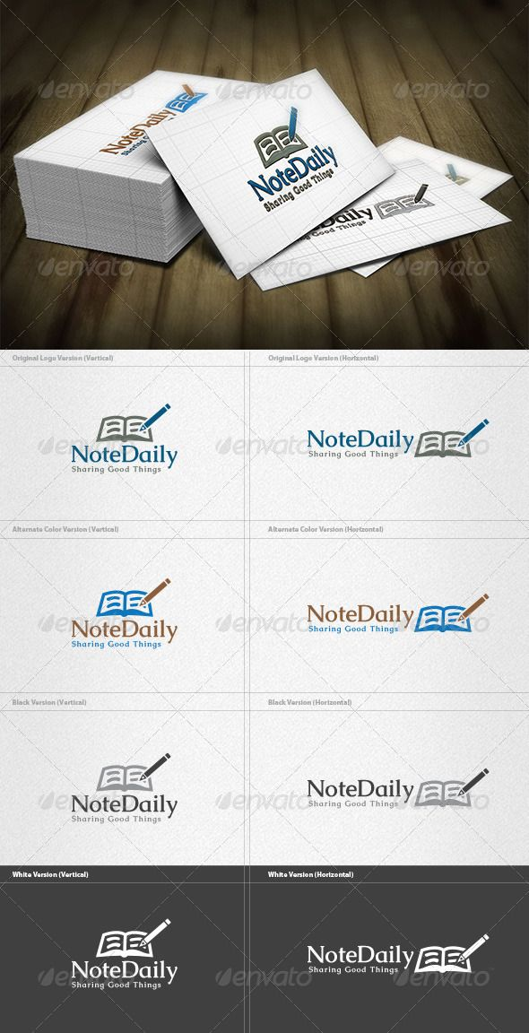 Daily Note Logo Logos, Font logo and Logo templates - daily note template