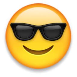 Smiling Face with Sunglasses Emoji (U+1F60E) | Emoji