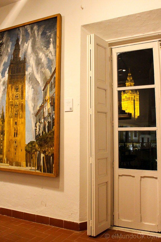 Amalio y su inspiradora vista hacia La Giralda de Sevilla