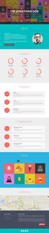 Flato - vCard, Resume, Personal WordPress Theme #wordpressthemes ...