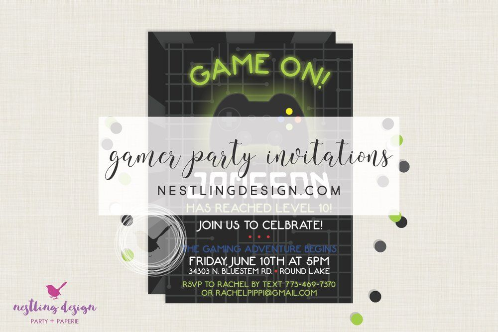 GAMING PARTY Video games birthday party, Party games