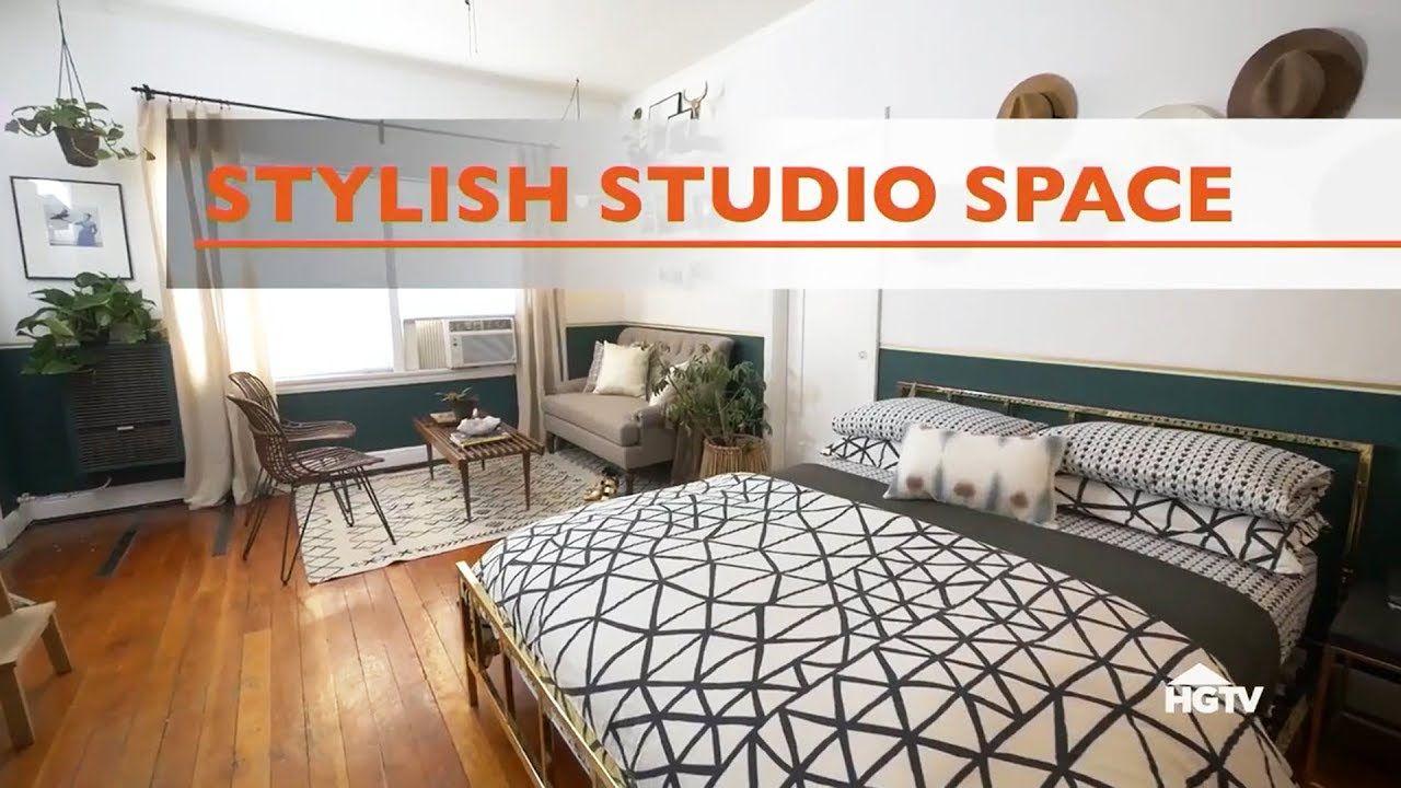 Stylish Studio Apartment Makeover Hgtv Youtube Apartment
