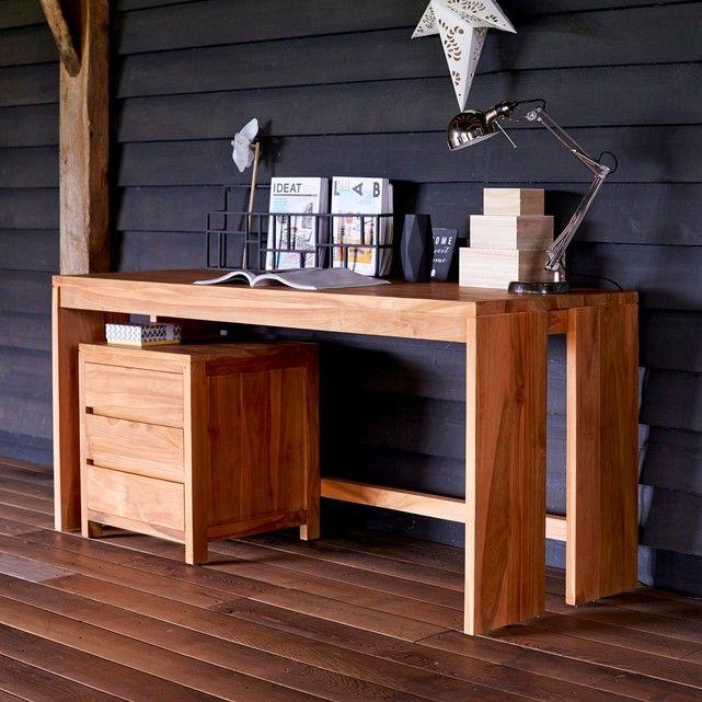 Bureau en bois de teck 160 Eden Bureau en bois Teck et La redoute