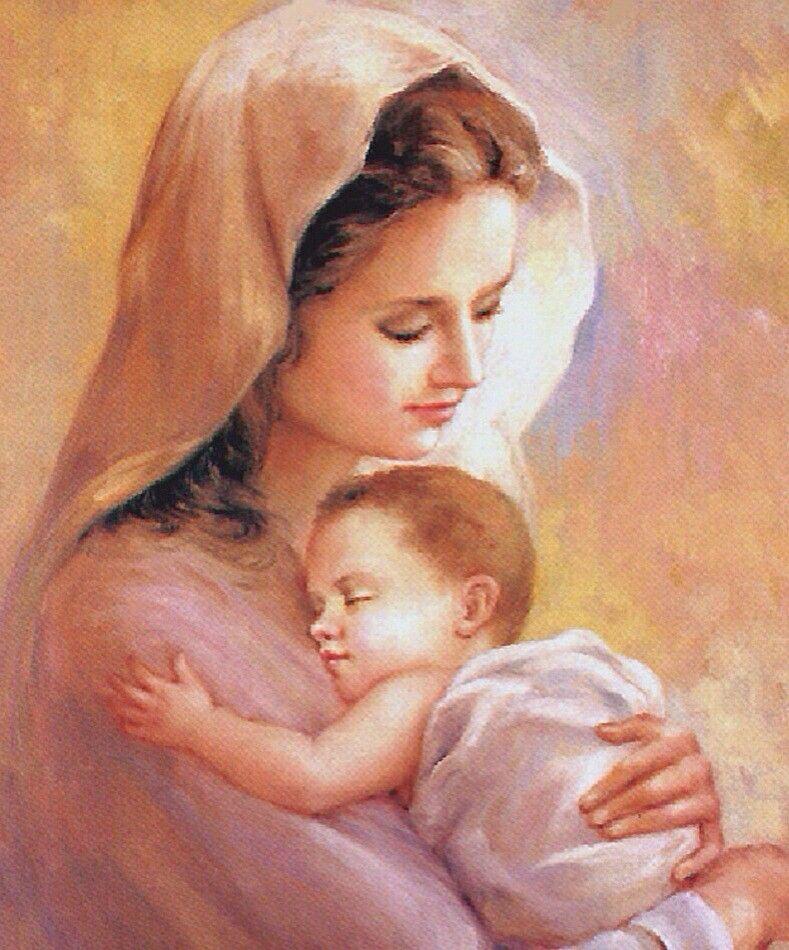 ام وطفل Mother And Child Painting Mother And Child Mothers Love