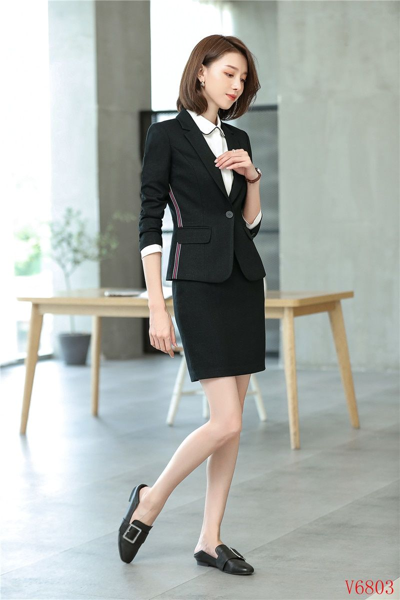 Reliable Blazer Black White Blue Rose Red Lady Blazer Women 2018 New Spring Long Sleeve Suit Blazer Female Suit Jacket Slim Work Clothes Street Price Blazers Suits & Sets