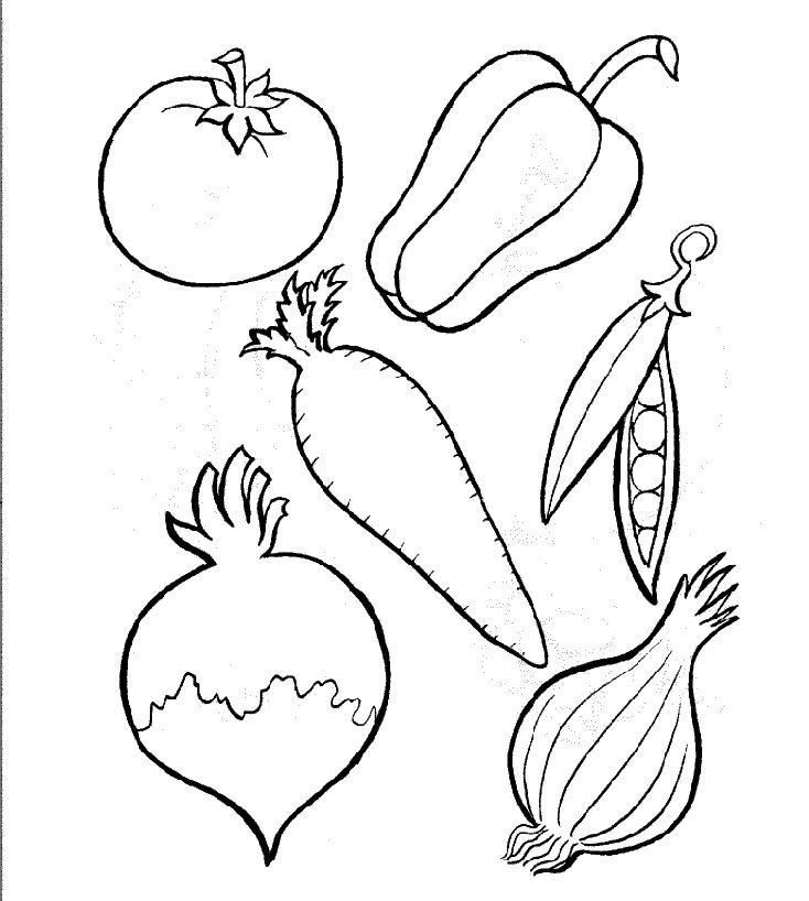 httpColoringToolkitcom Free Fruits and Vegetables Color