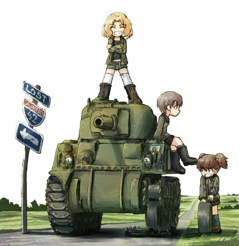 Pin By Chatchawan Sandee On Girls Und Panzer Tank Girl Anime Military Manga Girl