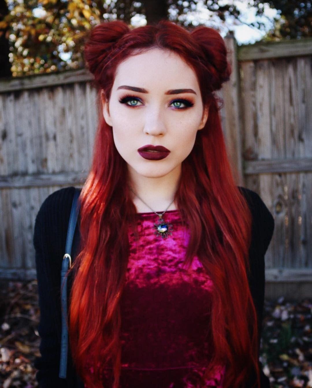 Skyjuu Is An Elegant Beauty In This Custom Auburn Shade She Used Sunset Orange Mixed With Purple Rai Arctic Fox Hair Color Fox Hair Dye Arctic Fox Hair Dye