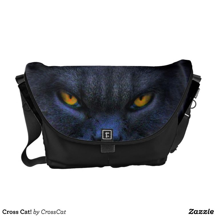 Cross Cat! Courier Bags #crosscat #cats #blackcats http://www.CrossCat.co
