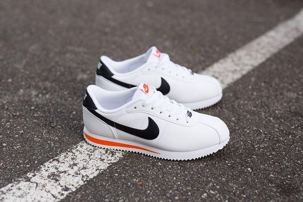 Nike Cortez Basic Leather A 06 White Black Team Orange Og Eukicks Sneaker Magazine Sneakers Mode Manner Turnschuhe Turnschuhe Damen