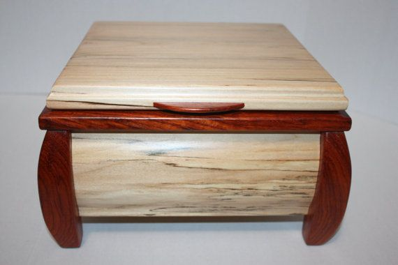Sexy Jewelry Box Large Handmade Curved Leg Woods are Padauk and