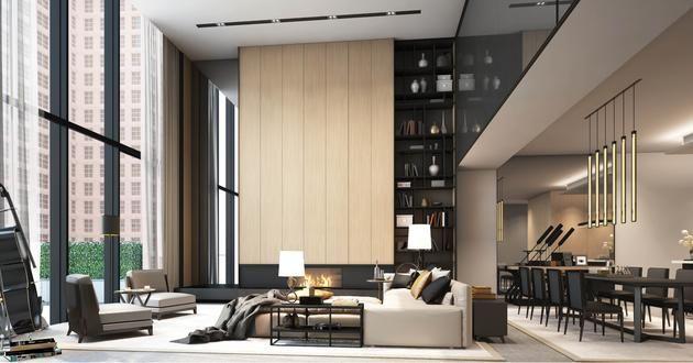 Soori high line new york interiors scda interiors for Sala new york