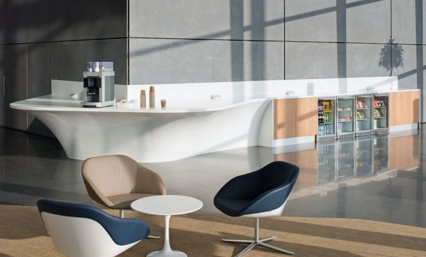 Office Refreshment Area And Reception Desk By Edwards Williams Furniture Http Www
