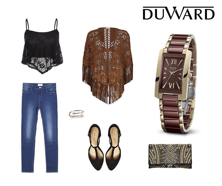 #LookDuward Hoy en Relojes Duward apostamos por un look granate combinado con nuestro reloj Ceramic para mujer. ¡Estilo casual y trendy para los días primaverales!