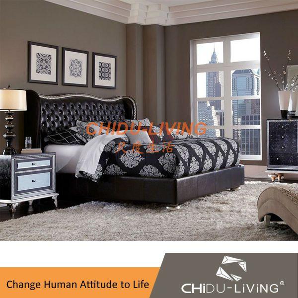 Source king size bedroom set, contemporary bedroom set, upholstered ...