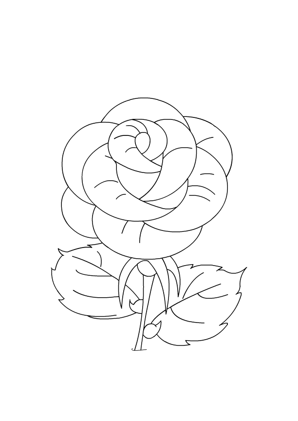 rose coloring pages games - photo#2
