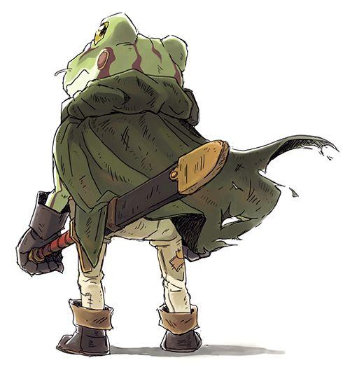 frog from chrono trigger fanart 鳥山明 pinterest chrono