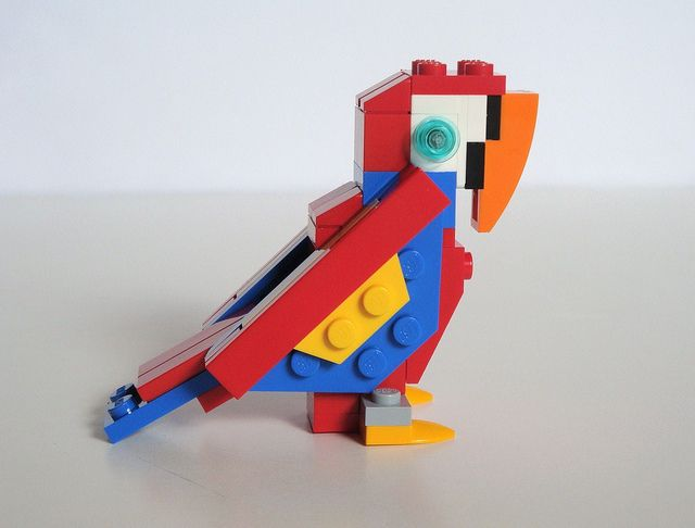 lego classic parrot instructions