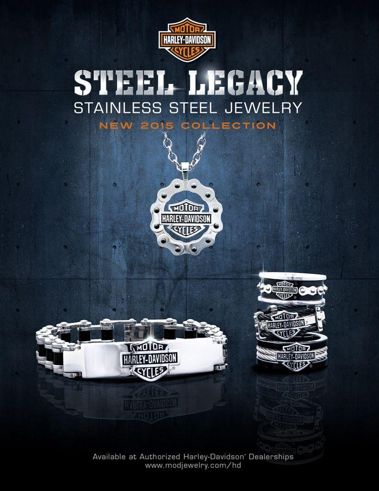MOD Jewelry #SteelLegacy #StainlessSteelJewelry #HDmen #Mensjewelry #harleyriders #harleymen