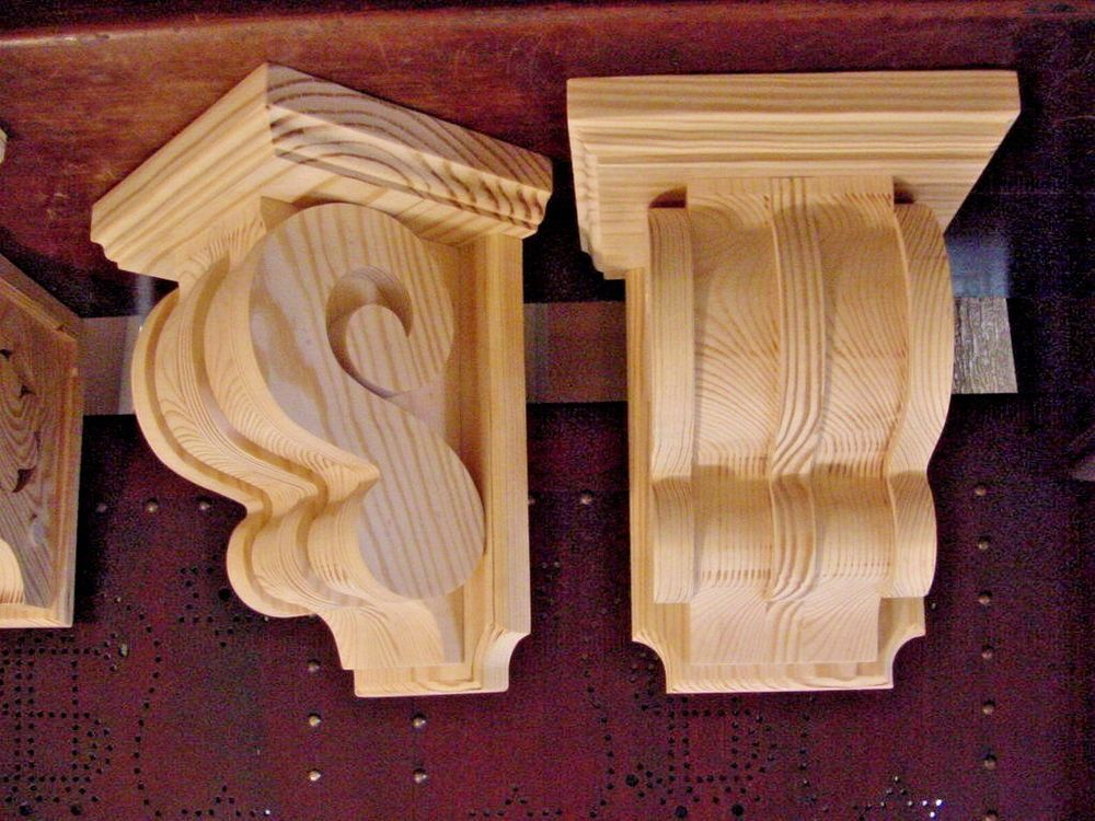Pair Of Vintage Victorian Design Wood Corbels Shelf Mantle Brackets Shakybird Wood Corbels Corbels Wood Design