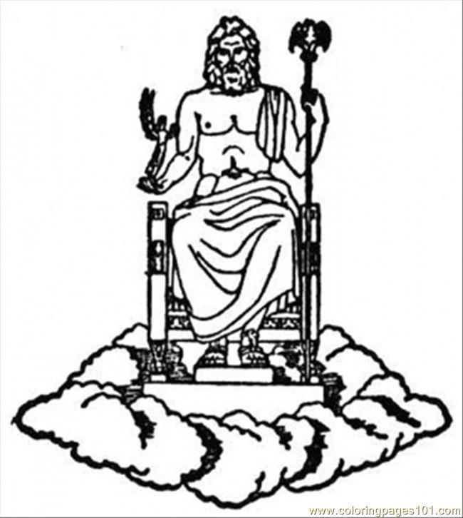 Zeus Greek God Coloring Pages | 12 ΘΕΟΙ -ΓΕΝΙΚΑ ΕΙΚΟΝΕΣ | Pinterest