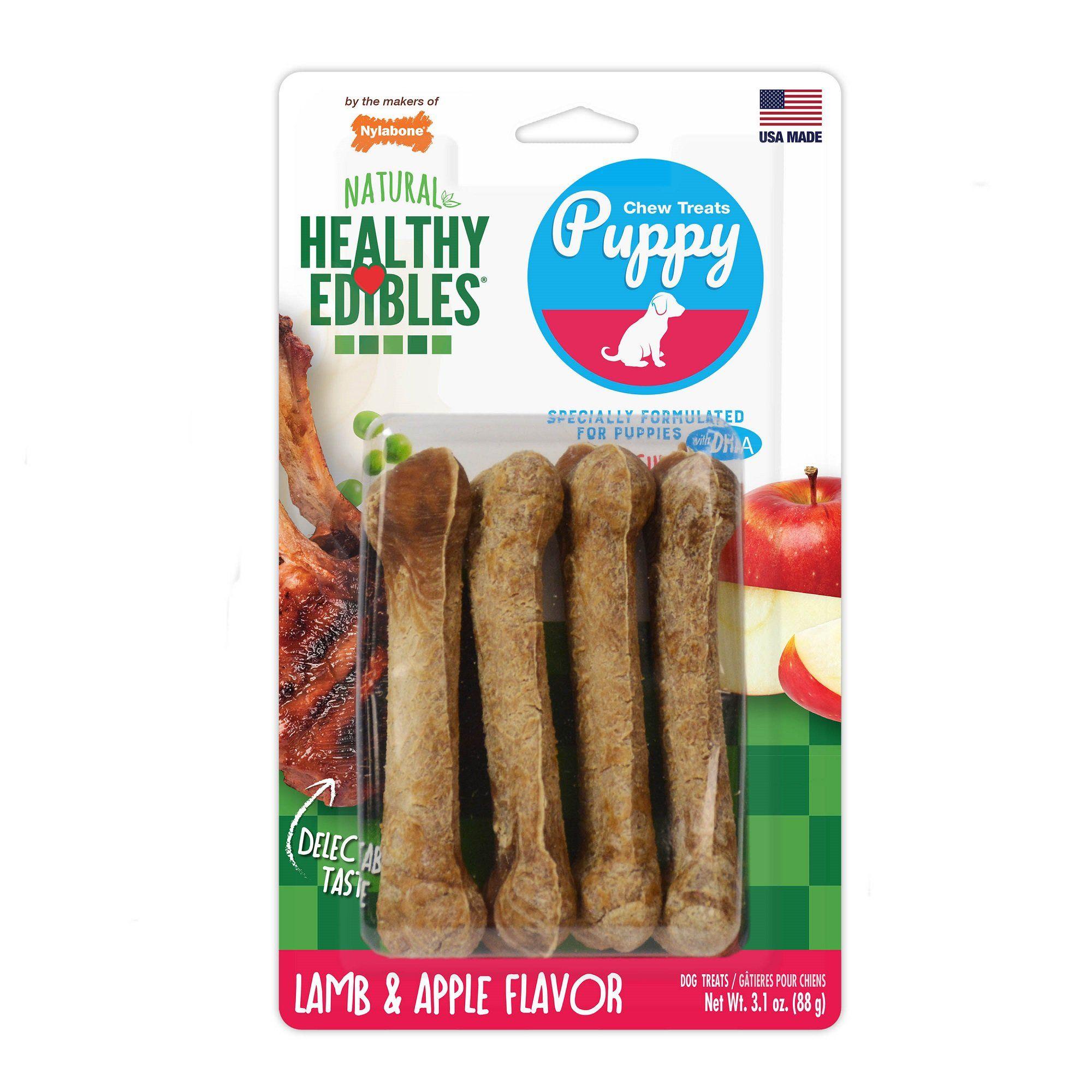 Nylabone Healthy Edibles Lamb Apples Puppy Chews Small Count