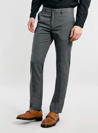 Light Grey Skinny Dress Pants - Men's Pants - Clothing