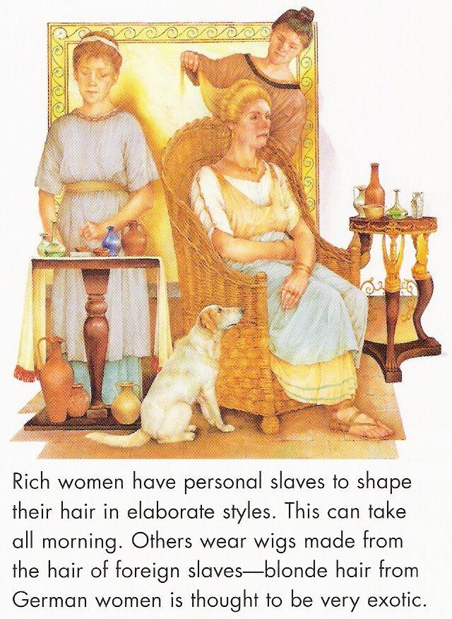 wealthy Roman woman going through her cosmetic preparations  Roman Vistas  Pinterest  Imperio