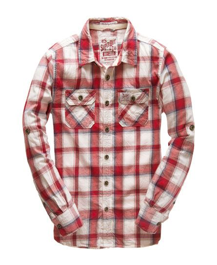 Mens - Lumberjack Twill Shirt in Super Ombre Check Red Mix. Superdry  MensMen's ...