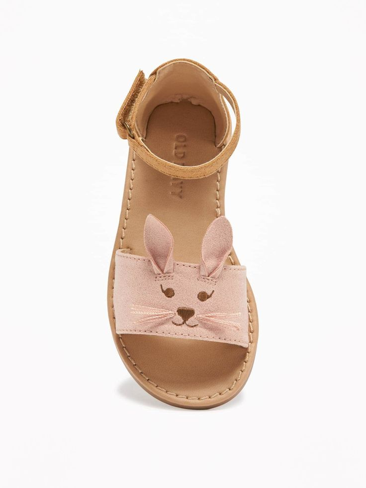 Sueded Bunny Sandal Old Navy Baby Accessories Little Girl Shoes Cute Baby Shoes Kid Shoes