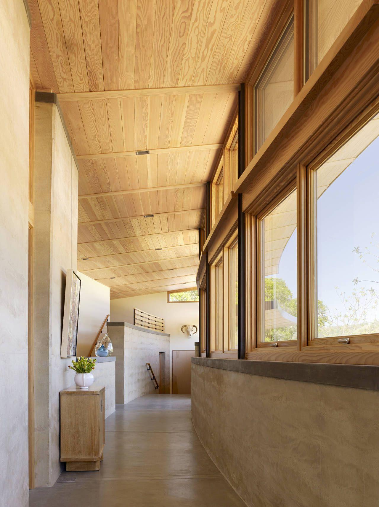 Exposed Concrete Walls Ideas Inspiration: Hallway, Exposed Concrete Walls, Caterpillar House In