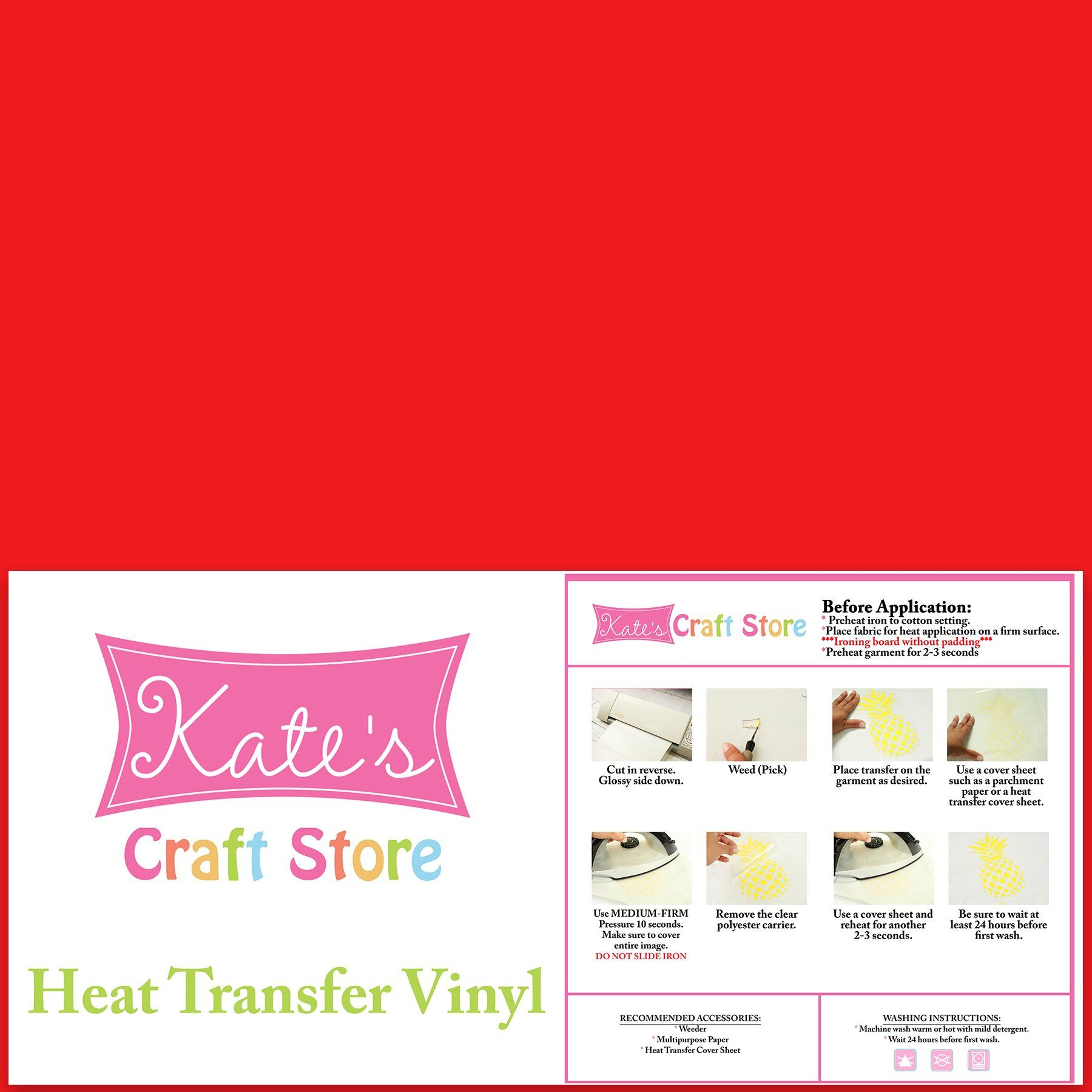 12 X 15 5 Pack Of Red Heat Transfer Vinyl Sheets Htv Ad Pack Sponsored Red Heat Sheets Heat Transfer Vinyl Heat Transfer Vinyl Sheets