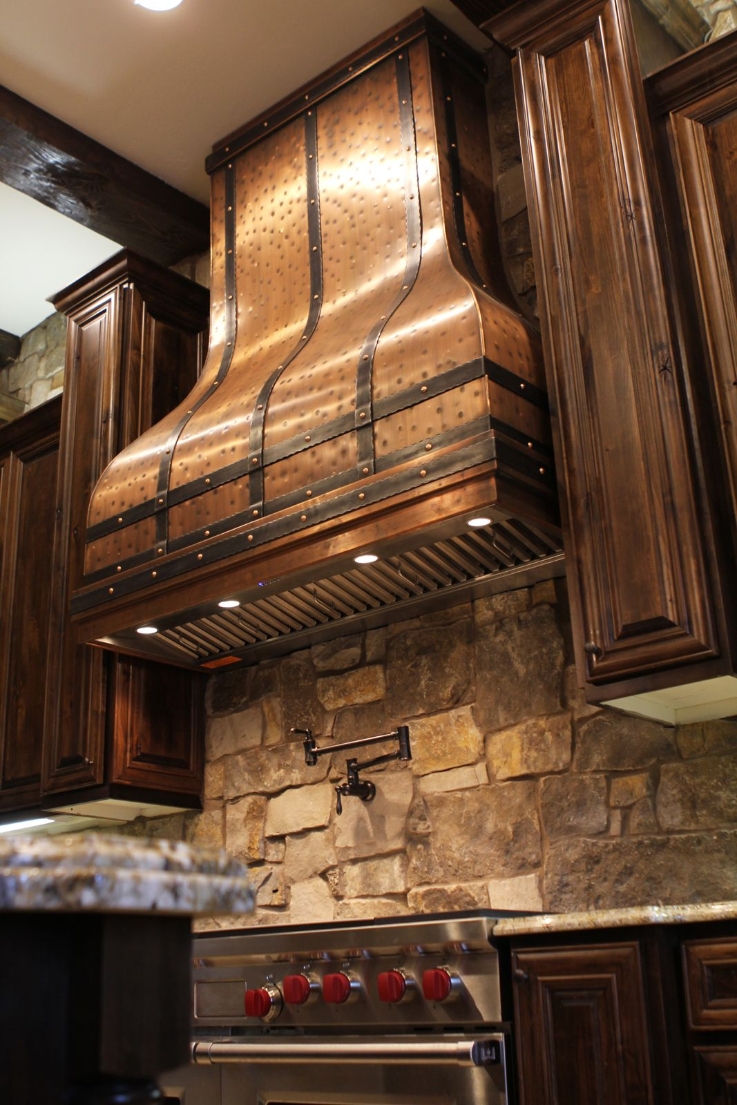 Art of Rain hood sets off this beautiful kitchen! #copper #kitchen ...