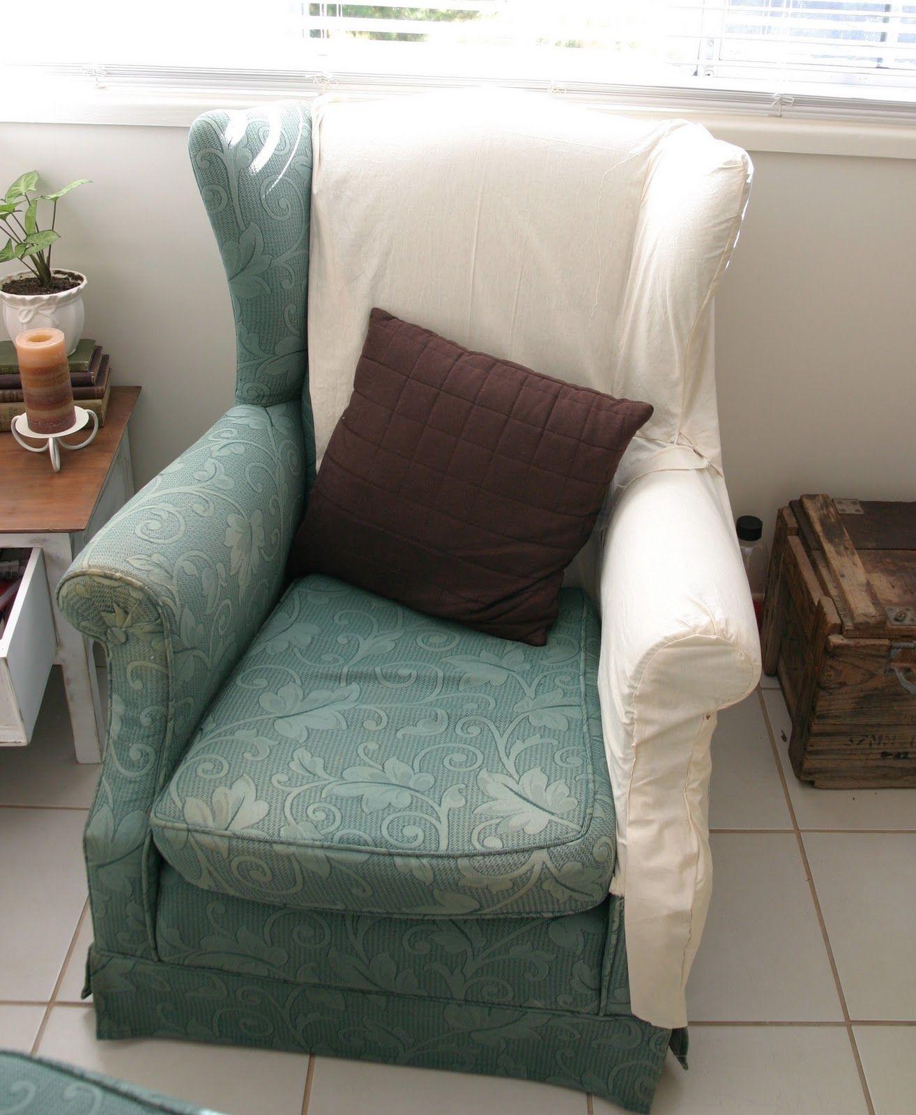 Wingback Sofa Slipcover Pattern