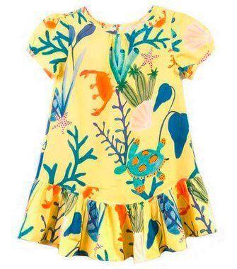 06a9d89926 Vestido infantil amarela com desenho e melhor preço você encontra com  exclusividade na loja online da