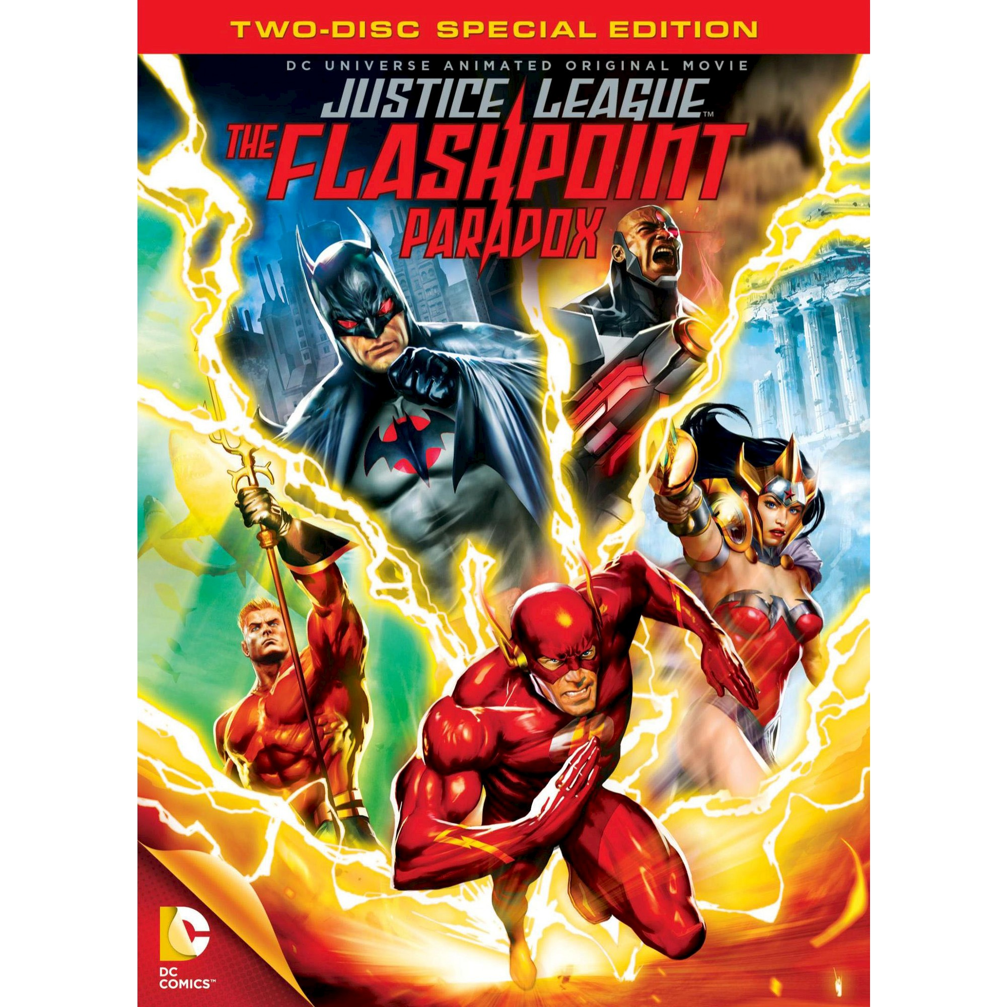 Justice League The Flashpoint Paradox Dvd 2013 Ponto De Ignicao Filmes De Animacao Paradoxo