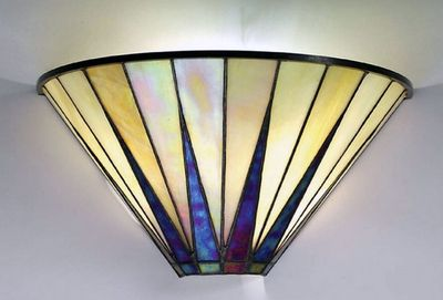 Applique star tiffany architecture déco lampe art deco