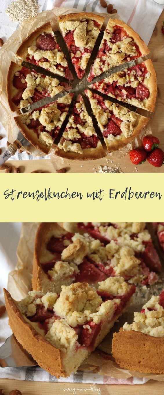 Sommerlicher Streuselkuchen mit Erdbeeren Rezept (mit