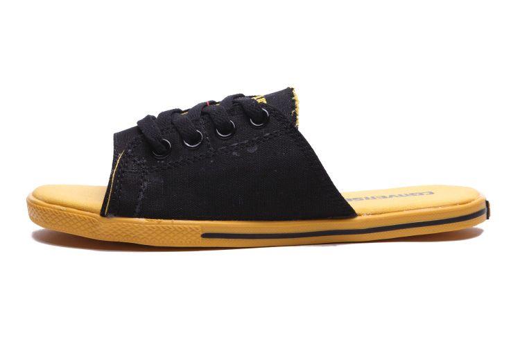 Converse Summer Cutaway EVO Chuck Taylor All Star Slippers Black Yellow   converse  shoes c126c01e7