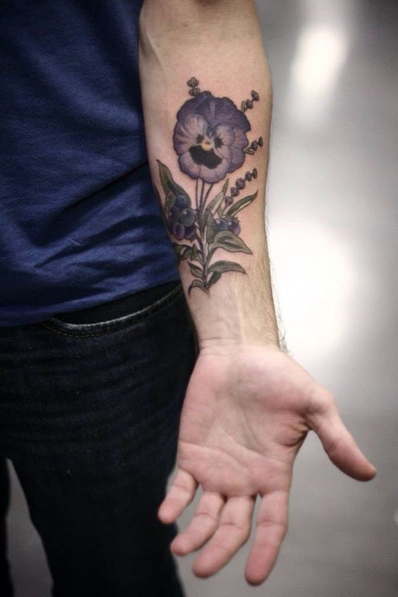 1706da4c9 Image result for pansy tattoo | tattoos for me | Pansy tattoo ...