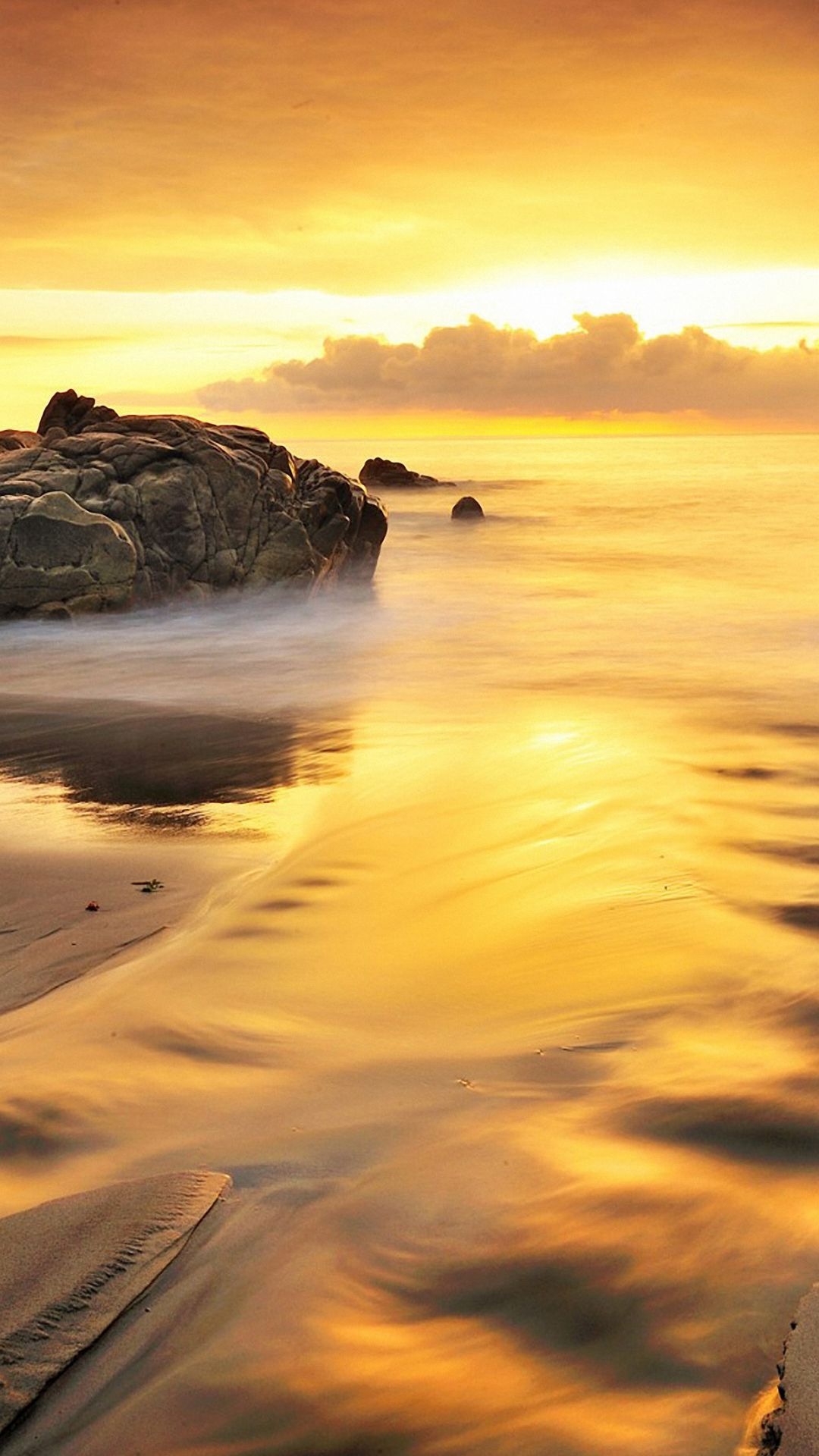 gold beach and sea iphone 6 wallpapers HD Strand