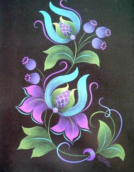 Уроки по китайской росписи | Цветочные картины, Живописные ...