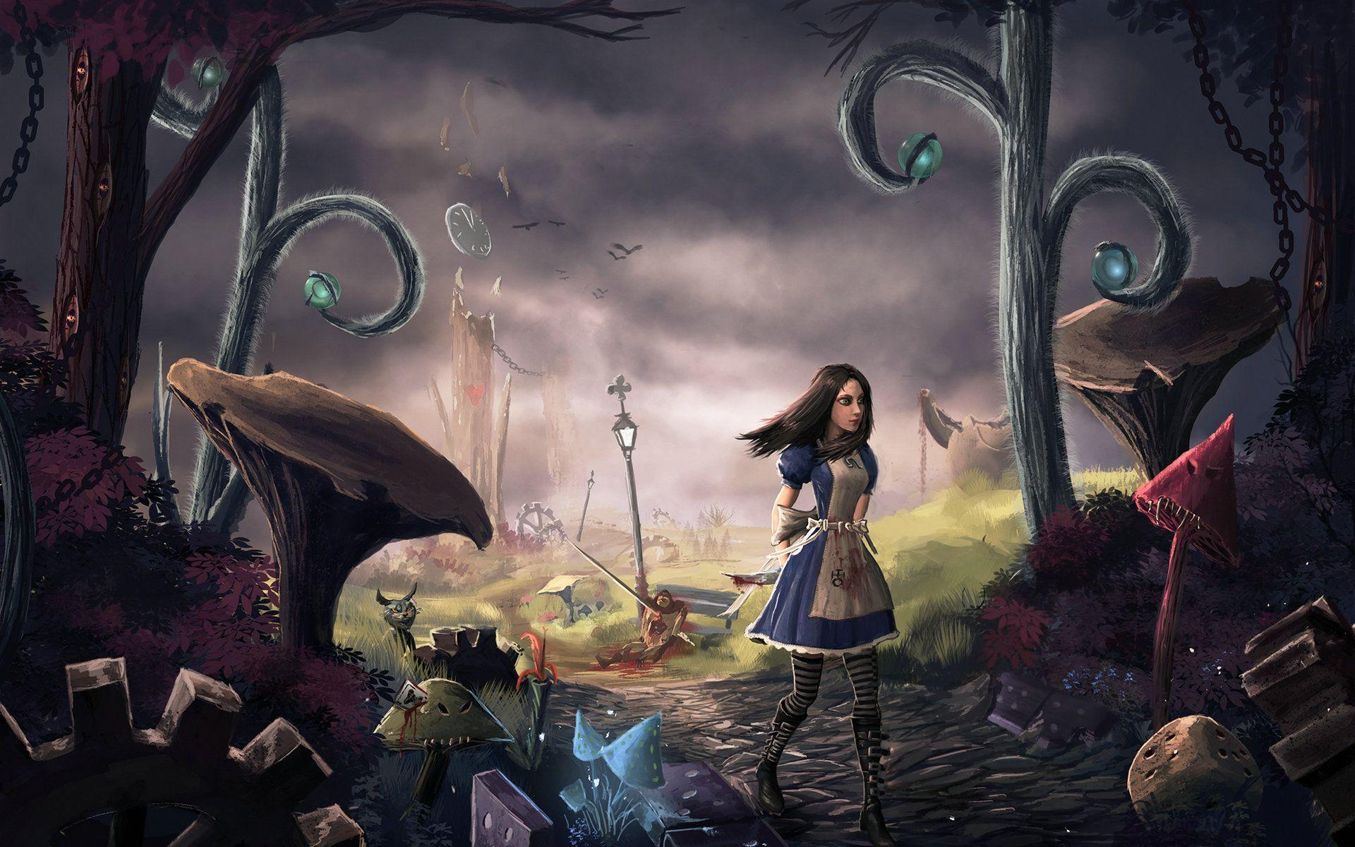 Alice Madness Returns Wonderland Free Desktop Wallpaper Hd Wallpaper Arte Oscuro Arte Caricaturas