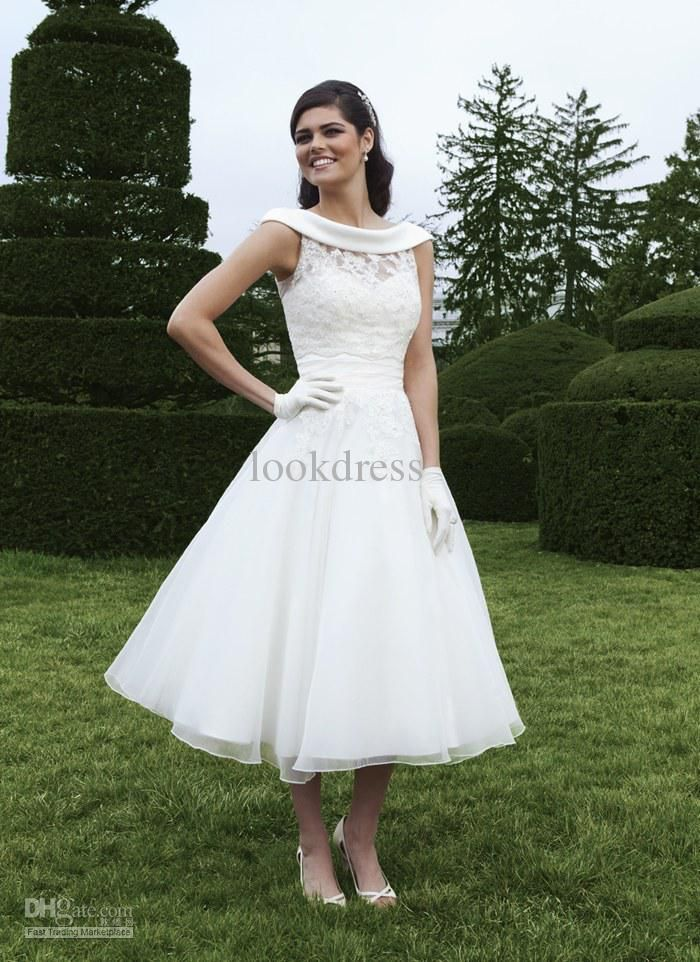 Cheap Vintage Tea Length Wedding Dresses Xqnnobto | beachnz ...