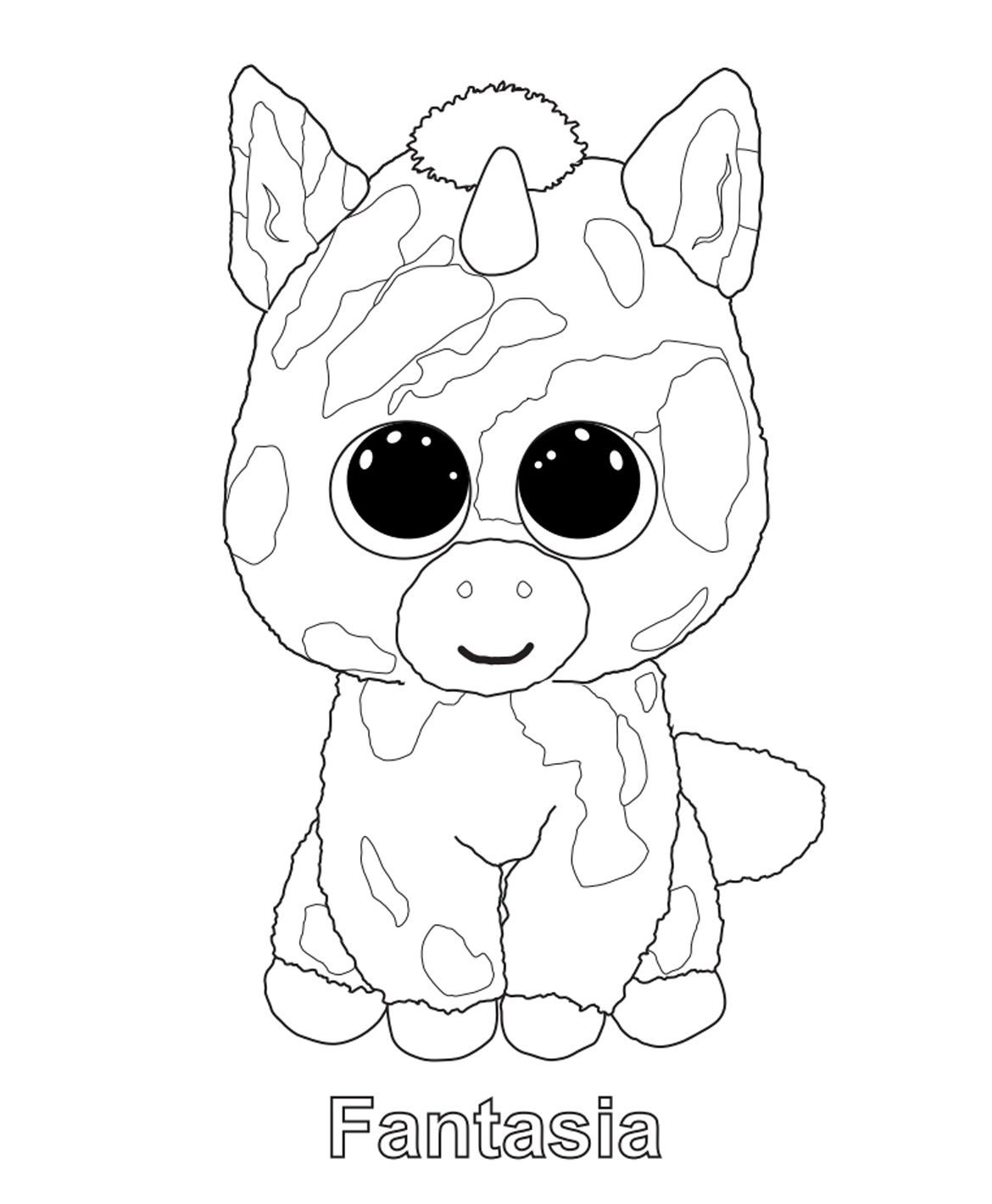 Print me Fantasia TY Beanie Boo Beanie Boos Coloring Pages