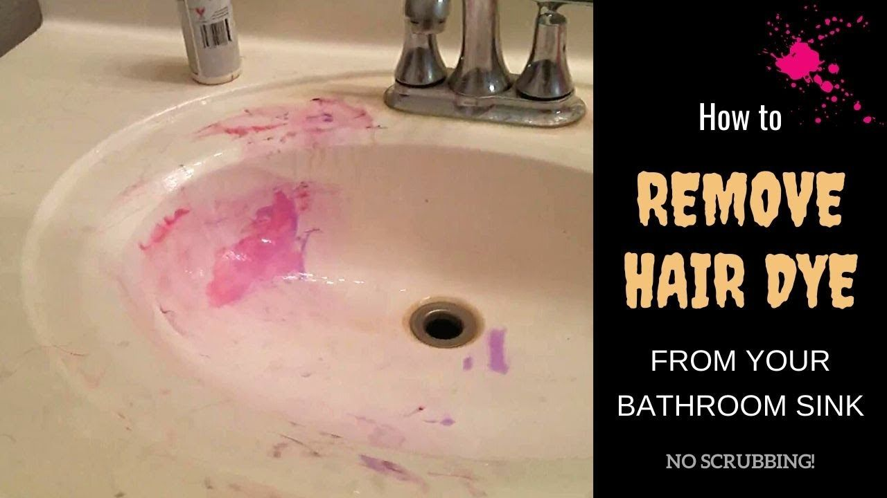 How To Remove Hair Dye From Bathroom Sink No Scrubbing No Acetone Li Hair Dye Removal Bleaching Dark Hair Hair Color Remover